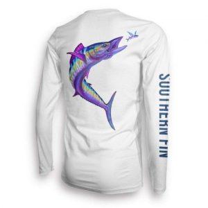Camiseta de pesca sur Fin Apparel UPF 50 Dri Fit Mens manga larga
