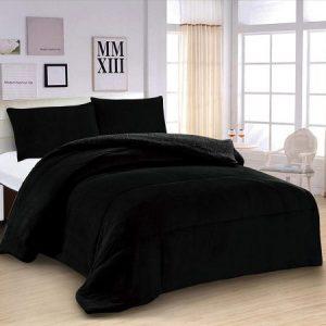 Edredón nórdico de 600 g, (L-3074), Negro, para cama de 150 y 160 cm,