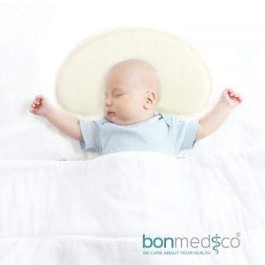 Almohada Guardián para Bebé, Contra el Síndrome de Cabeza Plana
