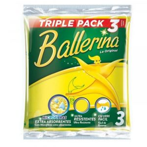 Ballerina - La Original - Paños Multiuso - 3 Paños