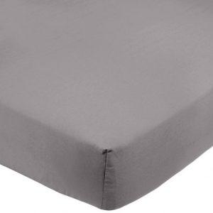 Sábana bajera ajustable (microfibra, 150 x 200 x 30 cm) Gris oscuro